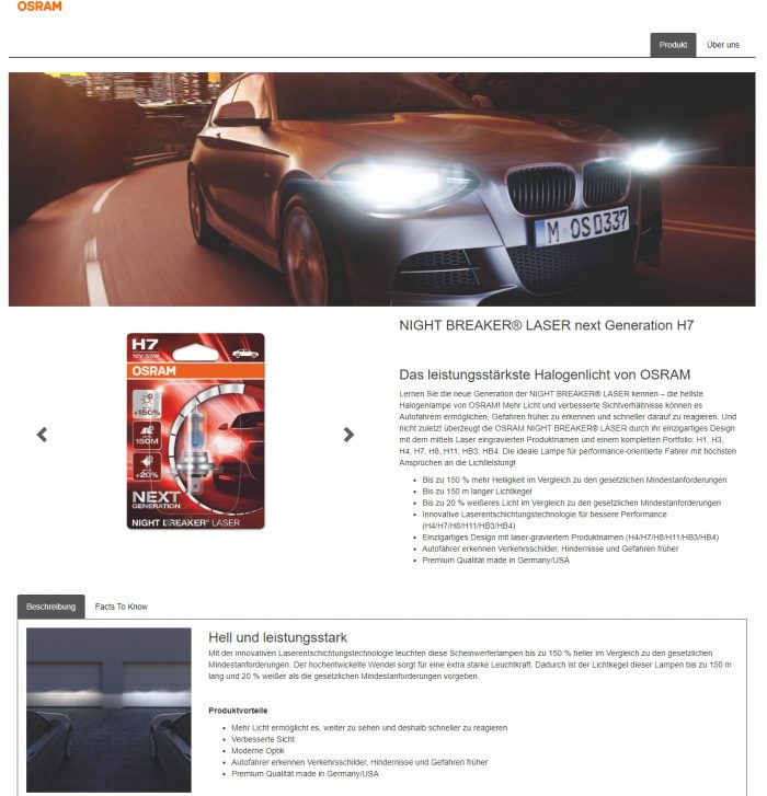 Produkt-Content von Osram Automotive